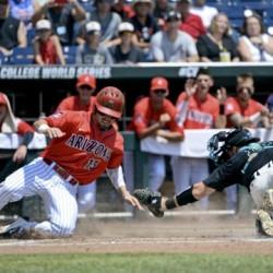 Cody Ramer out at home Arizona Baseball