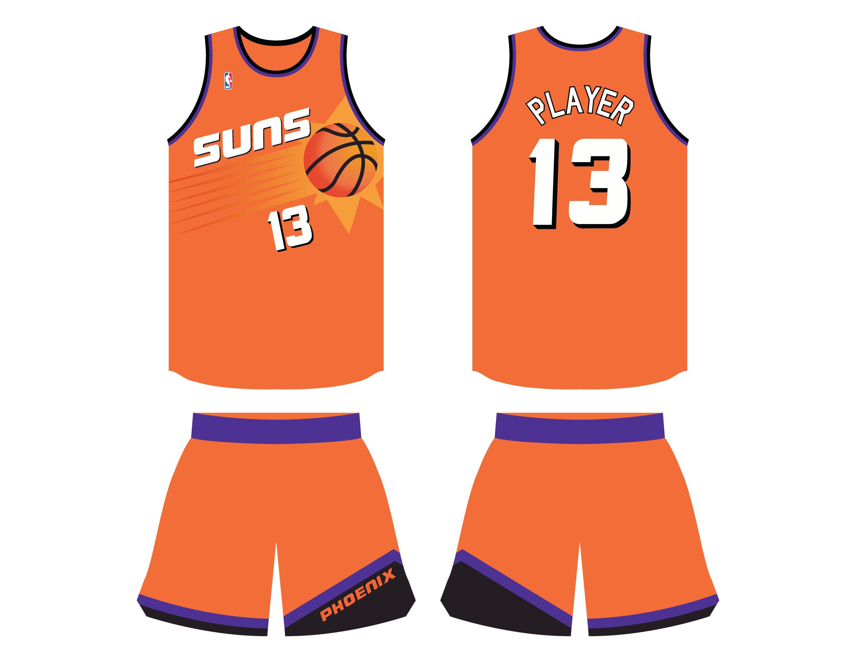 great fit cfaea 6b942 phoenix suns orange jersey