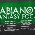 Fabiano's Fantasy Focus: Week 10, Volume I