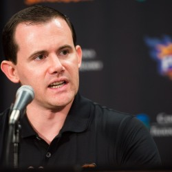 Isaac Hale/azcentral sports Suns General Manager Ryan McDonough has plenty on his plate this offseason. First up, he?ll be looking to hire a head coach. Up next are the NBA draft in June and free agency in July. Ryan McDonough, General Manager for the Suns, speaks to the media during a press conference. The Phoenix Suns held a press conference for their newest player, Tyson Chandler, at the U.S. Airways Center in Phoenix, AZ, on Thursday, July 9, 2015.