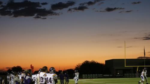 High School Football Sunset